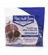 Чистый Дом зерно от грызунов 200гр /50